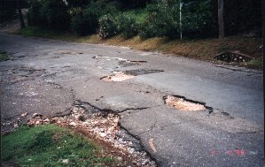 look at the potholes